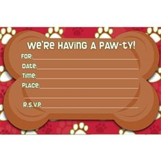 Invitations for Dog Party (8)