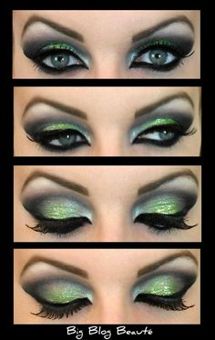 green arab eye makeup - Google Search