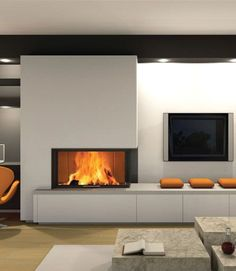 Modern Fireplace Designs With Glass For The Contemporary Home   -  #Fireplace #FireplaceBrick #FireplaceDIY #FireplaceScreen