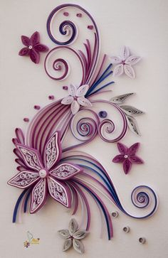quilling | neli: Quilling cards-flowers
