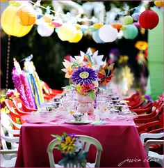 So easy to do!  Sooo cool for a little girl's birthday party... An Alice in Wonderland themed party! LOVESSS THIS!