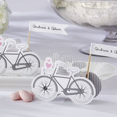 Bicycle Favor Boxes by Beau-coup