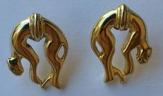 Boucles d'oreilles panthère Vintage de la boutique AuxBellesFrusques sur Etsy