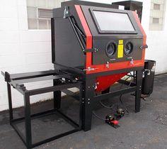 How to Buy a Blasting Cabinet Garage Tools, Garage Shop, Garage Workshop, Cool Tools, Diy Tools, Sandblasting Cabinet, Soda Blasting, Sand Blasting Machine, Metal Fabrication Tools