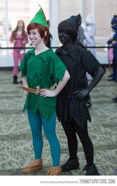 Peter Pan and his shadow- This is probably a lot of work for the party, but I kind of loved this. A lot like Link and Dark Link though all over again hahaha