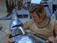 Cy (Rex Cutter) & Starbuck (Dirk Benedict) - Galactica 1980 The Return of Starbuck 70s Tv Shows, Sci Fi Tv Shows, Sci Fi Series, Movies And Tv Shows, Kampfstern Galactica, Battlestar Galactica 1978, Star Trek Enterprise, Stargate Atlantis, Marvel Heroes