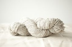 lovely earthy white yarn