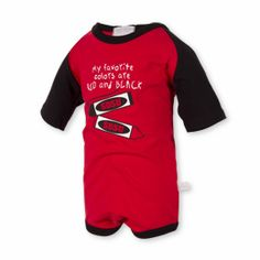 This diaper shirt features SDSU crayons and short sleeve team color insets.  $24.