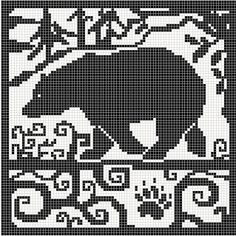 WitchWolfWeb Creations: bear Motif Fair Isle, Fair Isle Chart, Knitting Charts, Knitting Stitches, Knitting Patterns, Crochet Patterns, Cross Stitching, Cross Stitch Embroidery, Embroidery Patterns