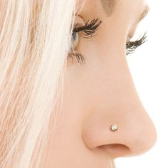 Crystal Nose Stud - Silver Nose Stud - Tiny Nose Stud - Nose Jewelry - Nose Piercing - Nostril Stud - Earrings For Pierced Nose