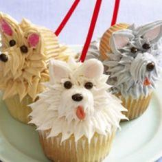 Dog Shaped Cupcakes
