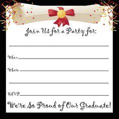 free printable graduation party templates   printable graduation, Party invitations