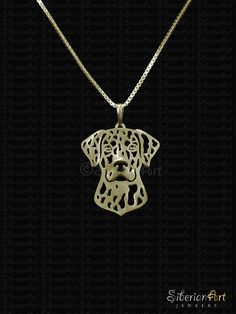 Catahoula Leopard Dog Gold pendant and necklace.