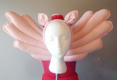 Light Pink Pegasus Costume, Wings and Ears. Felt, No Wire, My Little Pony. Original design.