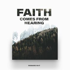 Romans So faith comes from hearing [what is told], and what is heard comes by the [preaching of the] message concerning Christ. Bible Scriptures, Bible Quotes, Jesus Bible, Jesus Faith, Jesus Prayer, Biblical Quotes, Scripture Verses, Jesus Quotes, Spiritual Quotes
