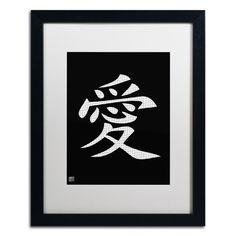Love - Vertical Black Matted Framed Graphic Art