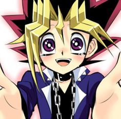 My heart just melted!  Yugi is so adorable :) My friends got me addicted to this series again and now that Im almost a senior Ive been having childhood feels and it hurts