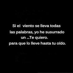 Amor, Te Quiero, Words