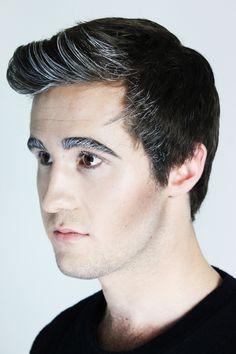 Male makeup with white eyebrow, eyelashes and hair #makeup #mua #makeupinspiration #creativemakeup