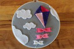 embroidery hoop wall art nursery - Google Search