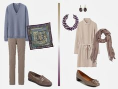 How to Pack for a Long Weekend: A Purple and Taupe travel capsule wardrobe