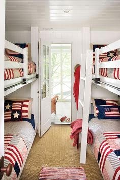 Kettles was able to innovate and turn a small upstairs room into a bunk room to fit more guests.