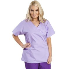 Looking for a new scrub top that's both stylish and value for money? Try the Dickies Mock Wrap Top now for only £17.00.  #nursescrubs #dentistuniform #nurses #dentists #purplescrubs