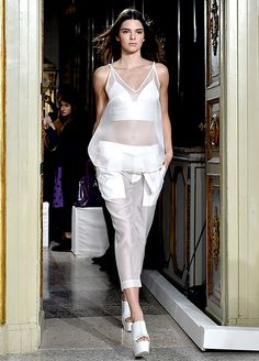 Kendall Jenner is still making her mark as a model. The reality star made a stunning appearance at the Ports 1961 fashion show!