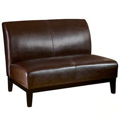 Best Selling Darwin Bonded Leather Loveseat Brown * Click on the image for additional details.