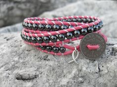 www.randombalance.com  A portion of the profits from this bracelet are donated to breast cancer research! October is Breast Cancer Awareness month.