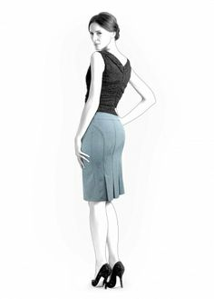 Skirt With Pleats - Sewing Pattern #4285