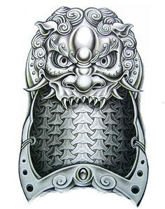1sheet Big3D Shoulder Dragon Tattoo Armor Temporary Tattoo Sticker Body Art