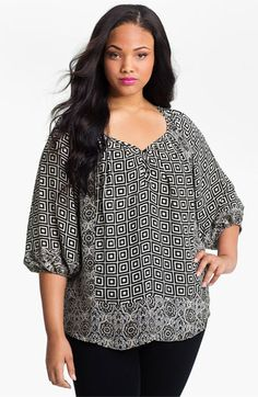 Tolani 'Adele' Silk Tunic (Plus) (Online Exclusive) available at Nordstrom