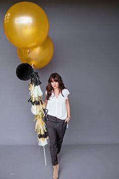 Balloon Set: Black + Gold