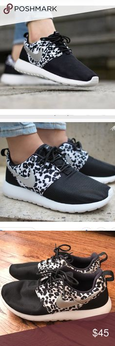 7e3e4b7aa85e6 Nike Leopard Print Roshes The cutest sneakers ever! Nike Leopard Print  Roshes Girls Eur- 38 I wear a shoe and these fit me perfectly!