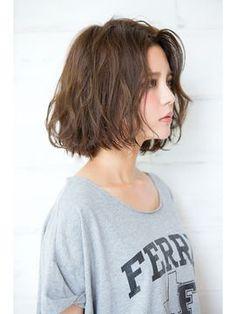 【joemi 】前上がり小顔ボブ×グレージュ×ニュアンスパーマ♪ - 24時間いつでもWEB予約OK!ヘアスタイル10万点以上掲載!お気に入りの髪型、人気のヘアスタイルを探すならKirei Style[キレイスタイル]で。