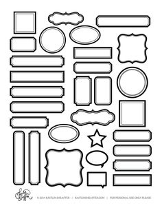 Label Series // Woodgrain Website has multiple FREE labels shapes that can be used with the SIlhouette Print and Cut feature. Printable Planner, Planner Stickers, Free Printables, Etiquette Vintage, Blank Labels, Labels Free, Free Printable Labels Templates, Tag Templates, Silhouette Cameo Projects