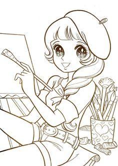Coloriage Fille Manga Facile.189 Meilleures Images Du Tableau Coloriages Images Mangas