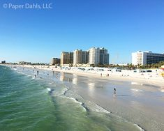 Clearwater Beach Fine Art Photography, Florida, Sunshine, Blue Sky, Waves, Vacation, Travel, Relaxation, Shore, Hotels, Water, Tropical by PaperDahlsLLC on Etsy