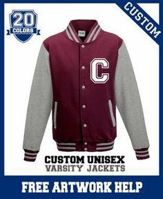 custom boys kids toddlers varsity sweatshirt jacket customised how you want