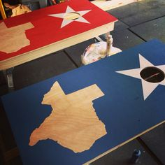 Texas, the Lone Star State corn hole board and bean bags