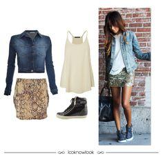 Get the Look: Jaqueta Jeans + Saia Animal Print #moda #look #outfit #ootd #getthelook #estilo #styling #conforto #jeans #animalprint #tênis #sneaker #spezzato #ellus #shop #lojaonline #ecommerce #lnl #looknowlook