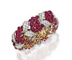 Ruby and Diamond Bracelet, Bulgari