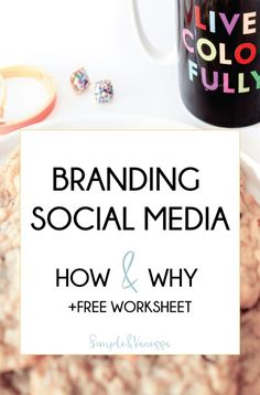 Branding Social Media: How and Why + Free Checklist Social Media Branding, Business Branding, Social Media Tips, Instagram Marketing Tips, Instagram Tips, Marca Personal, Personal Branding, Facebook Marketing, Social Media Marketing