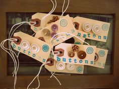 tags with buttons by Crafty Doula, via Flickr