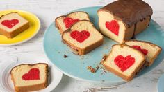 Look at this recipe - Hidden Heart Cake - and other tasty dishes on Food Network. Food Network Uk, Food Network Recipes, Baking Recipes, Cake Recipes, Dessert Recipes, Food Cakes, Inside Cake, Surprise Cake, Salty Cake