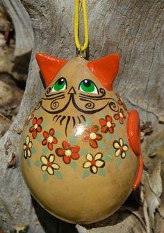 Egg Gourd Cat Ornament!