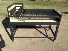The Rosemary is a Stainless Steel Uruguayan Grill Kit for Wood or Charcoal Grilling with Side Brasero X 30 X Adjustable Grill Angle for multiple grilling temperatures & Side Brasero Cowboy Fire Pit, Asado Grill, Parrilla Exterior, Argentine Grill, Bbq Tongs, Fire Pit Grill, Fire Pits, Grill Grates, Grill Design