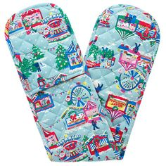 Christmas Double Oven Gloves | Cath Kidston | Christmas Turkey, Christmas Home, Christmas Presents, Christmas Things, Xmas, Cath Kidston Kitchen, Cath Kidston Christmas, Modern Vintage Homes, Vintage Christmas Images