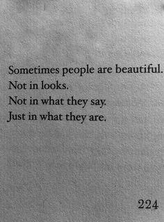 I love beautiful people